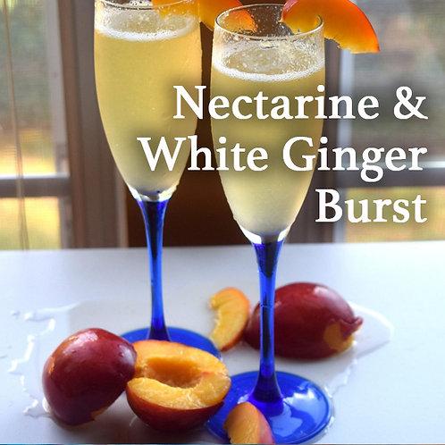 Nectarine & White Ginger Burst Fidget Sniffer