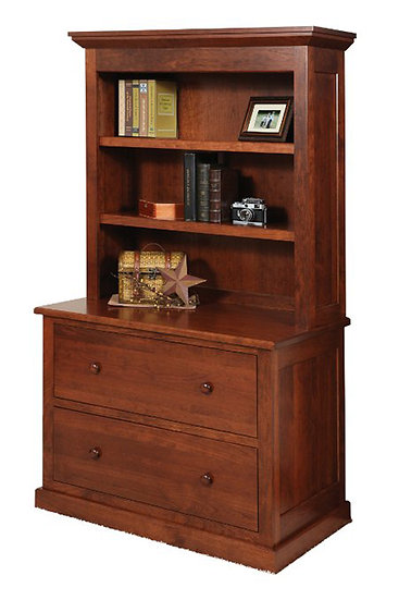 Homestead Lateral File with Hutch