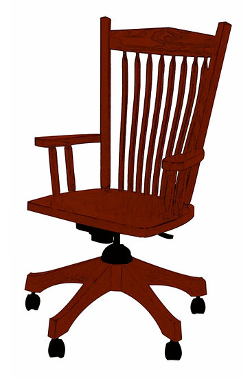 Post Mission Arm Desk Chair