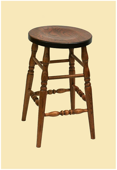 Scooped Seat Stool by Oakland