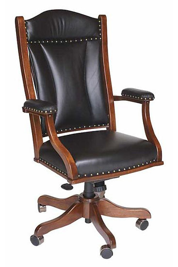 Leather Desk Chair with Hydraulic Lift