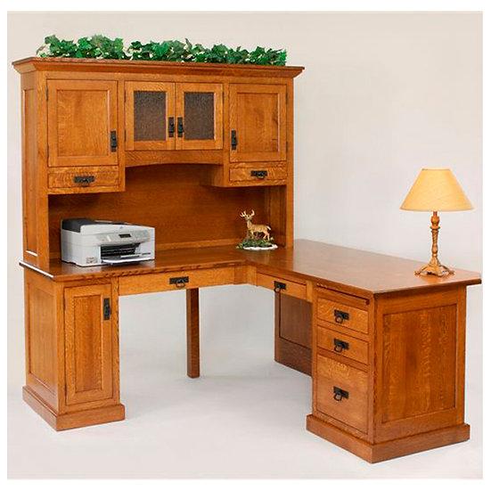 Homestead Corner Desk with Hutch