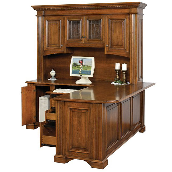 Lincoln Credenza with Hutch Top