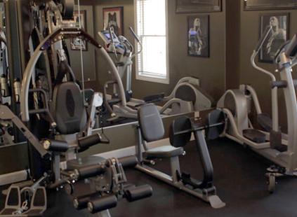 Baseball Themed Fitness Room