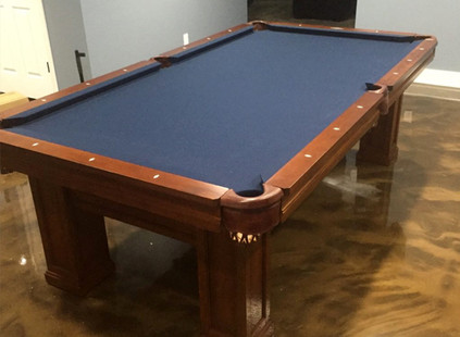 Brunswick Oakland Billiards Table with Midnight Blue Cloth