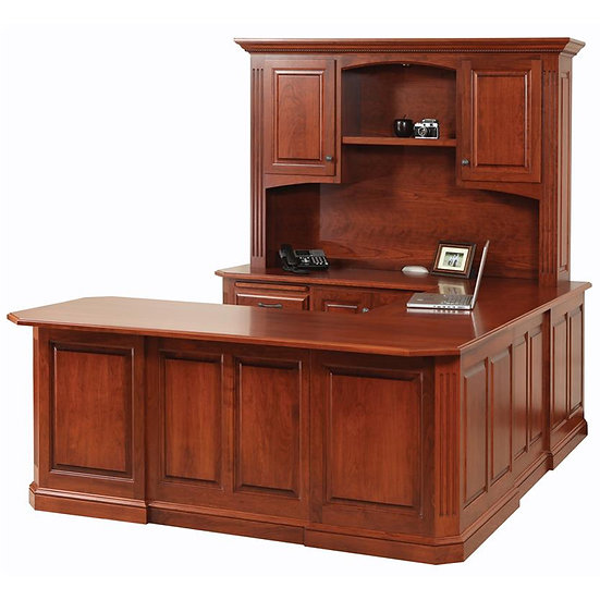 Buckingham U Shaped Desk with Hutch