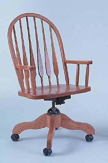 High Arrow Arm Desk Chair