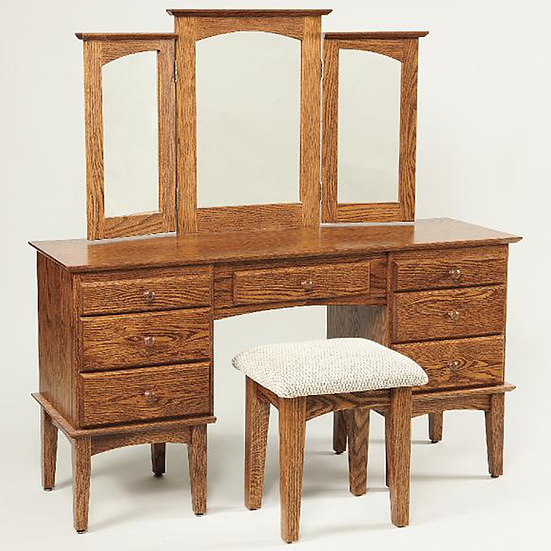 Shaker Dressing Table with 812 Stool