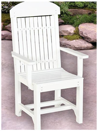 White Poly Side Chair