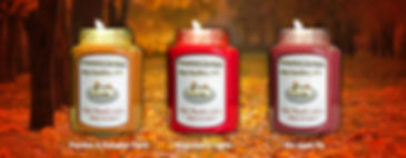 3 Fall Scened Candles - Country Lights Soy Cadles