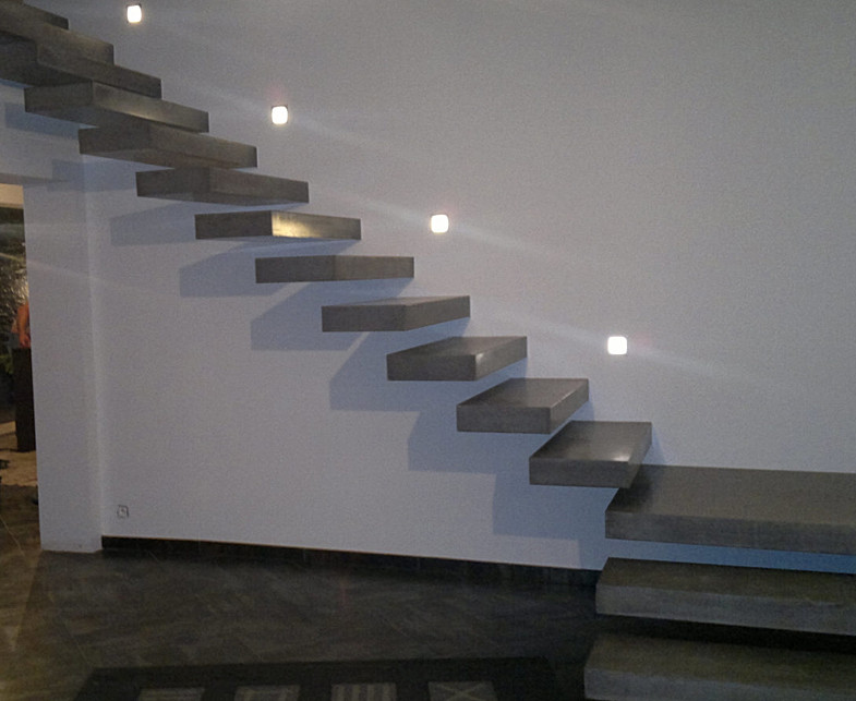 Custom Concrete Floating Stairway