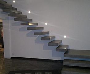 Custom Concrete Floating Stairway