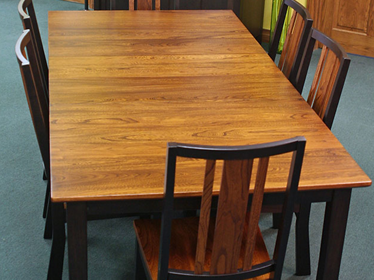 CVO Two Tone Madison Table with HLW Madison Chairs