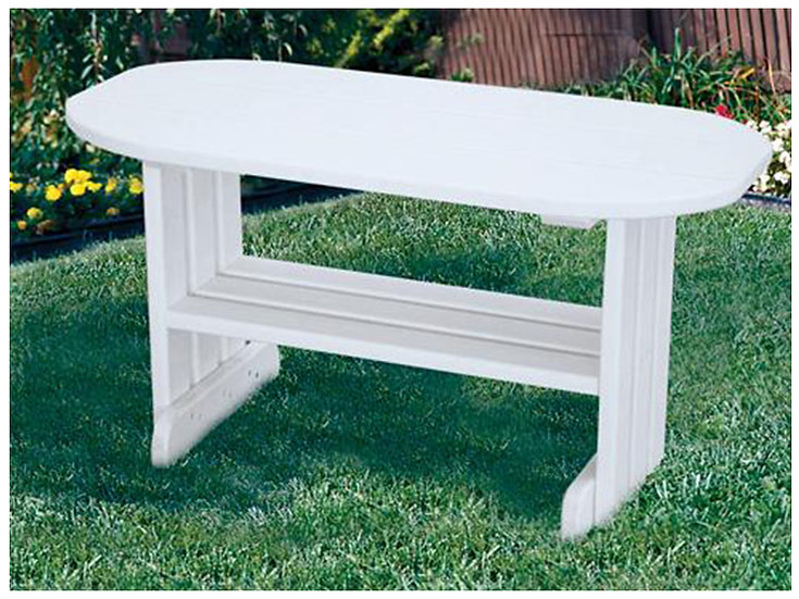 White Poly Outdoor Coffee Table