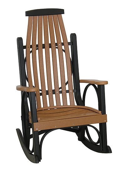 Grandpa's Cedar/Black Poly Rocker