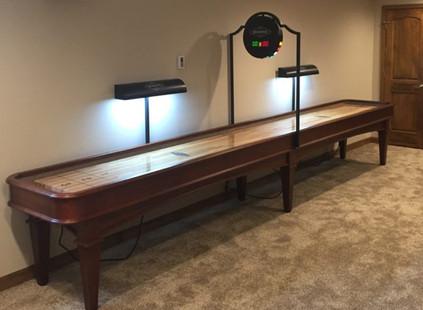 Brunswick Gunnison 16″ Shuffleboard with Scorer & Light Set