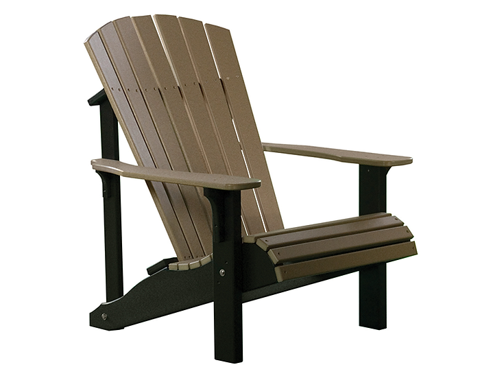 Deluxe Adirondack Chair (Weatherwood/Chestnut)