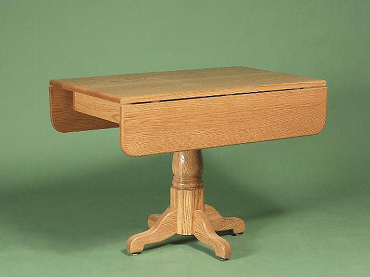 Country Pedestal Dropleaf Table