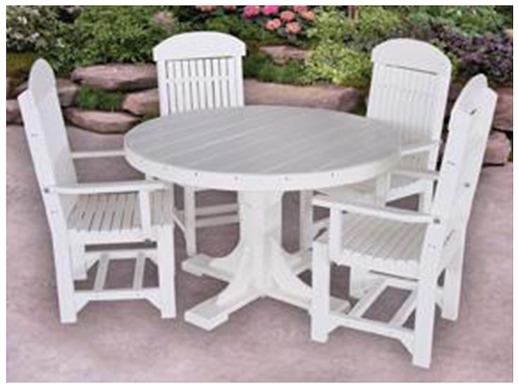 4ft. Round Poly Table with Chairs