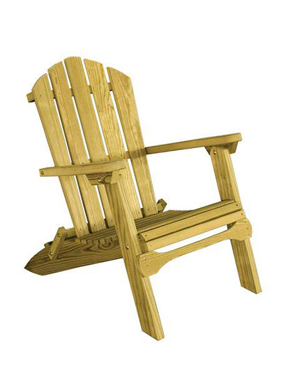 Folding Wood Adirondack Chair