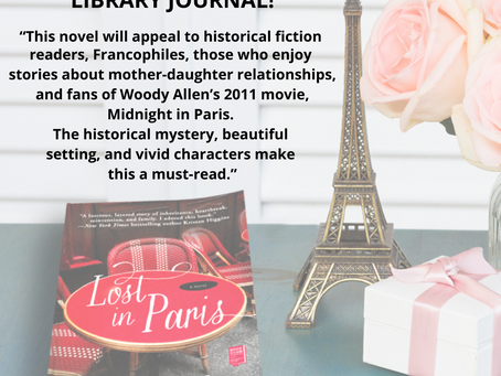 LOST IN PARIS RECEIVES A STARRED REVIEW           FROM LIBRARY JOURNAL