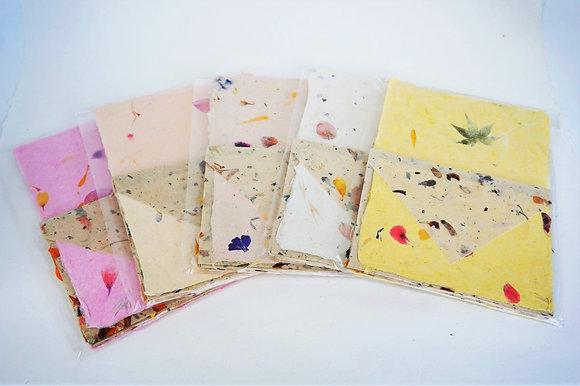 סט מכתבים Stationery set of handmade paper