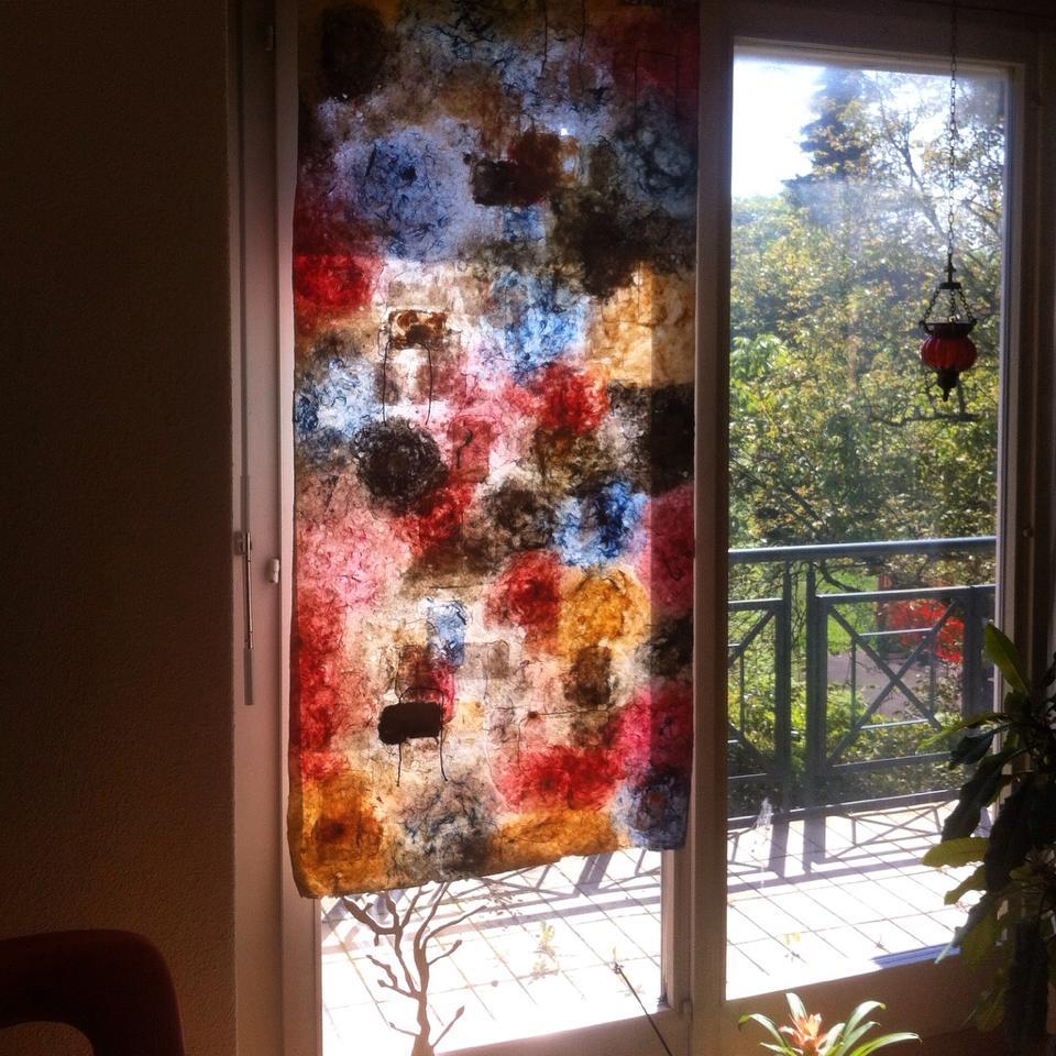 תמונת קיר מנייר עבודת יד מצמחים