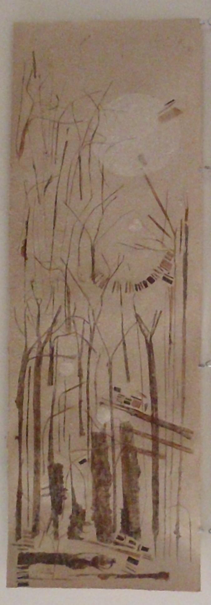 תמונת קיר מנייר עבודת יד מבננה