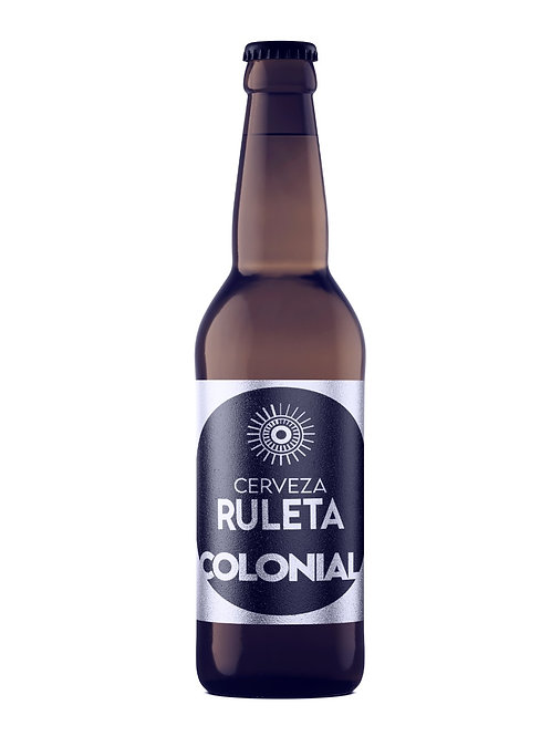 "Cerveza Ruleta Ale ""Colonial"" 355 ml 100 % Artesanal"