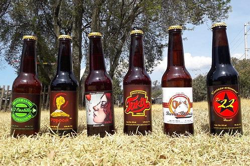 Kit de Degustación Cervezas El castillo 355 ml 100 % Artesanal (6 Cervezas)