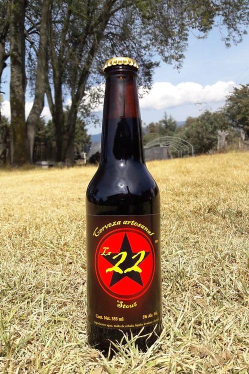 "Cerveza Stout ""La 22 "" 355 ml 100 % Artesanal"