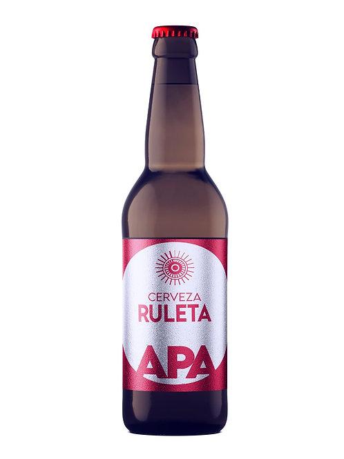 "Cerveza Ruleta Amber Ale ""APA"" 355 ml 100 % Artesanal"