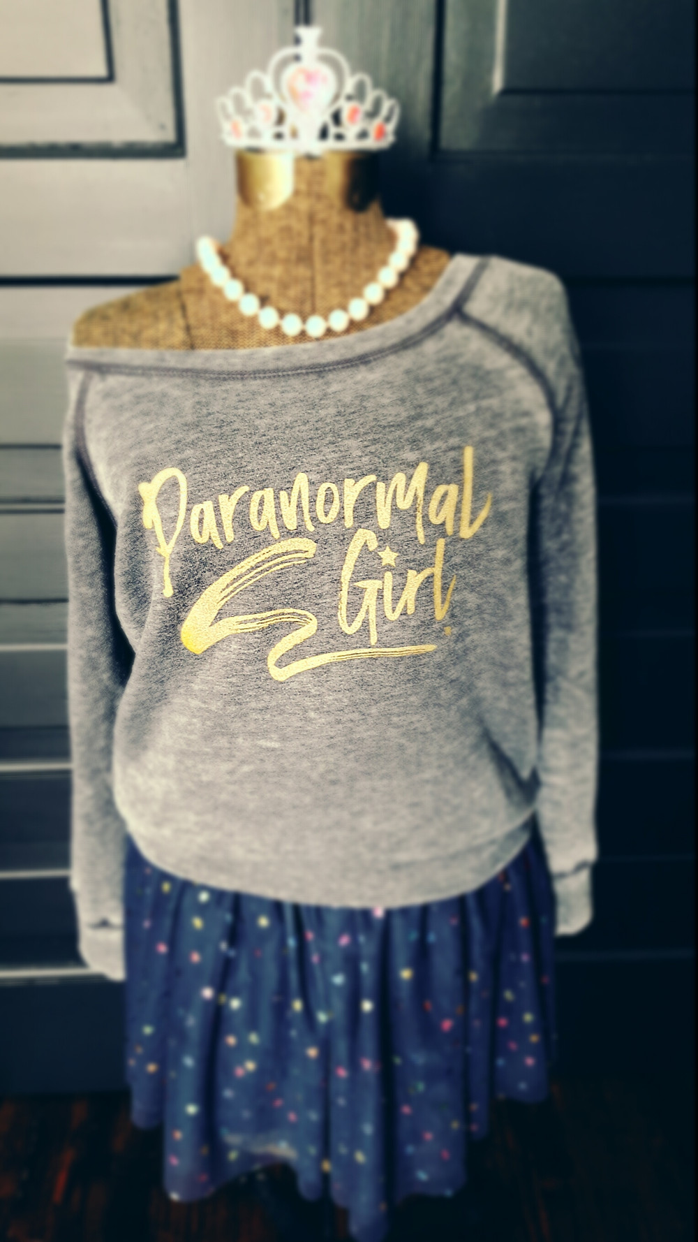 Paranormal Girl Rockstar Style Sweatshirt