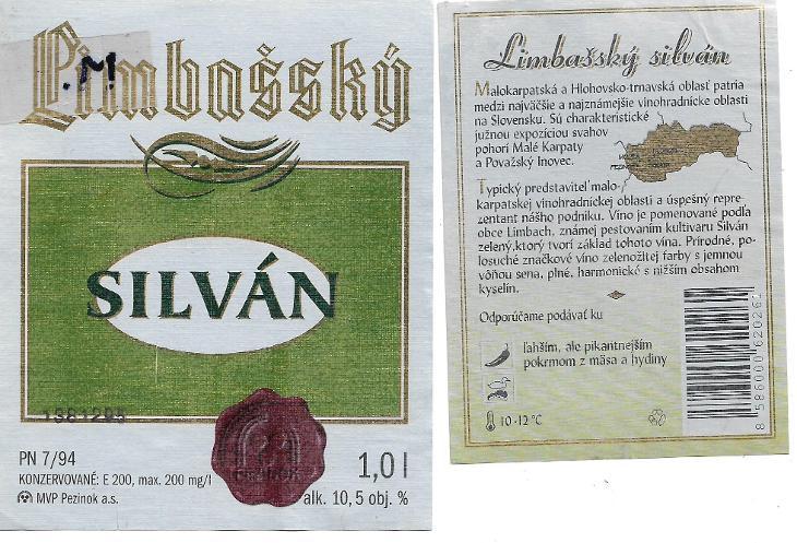 Limbach Sylvaner wine label
