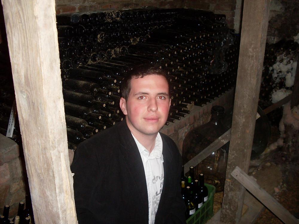 Martin Sanitra in wine cellar