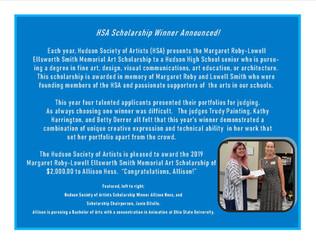 2019 HSA Scholarship Winner!