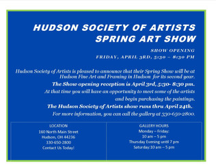 Get Ready To Attend HSA Spring Art Show!