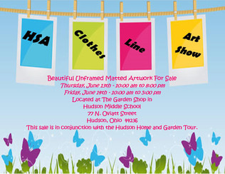 HSA Annual Clothesline Art Show & Sale Starts Thursday, 6/13 & Concludes Friday.