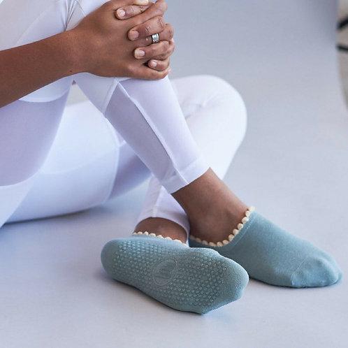 Pom Pom Teal Non-slip Socks