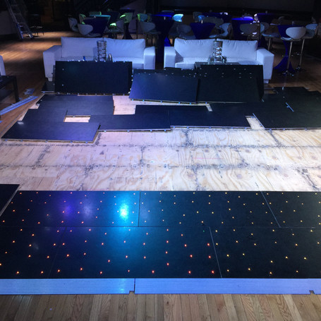 Installing new LED Dance floor in Night Club.