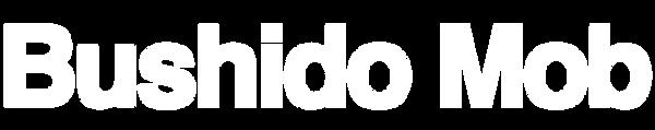 bushido logo white text no background.pn