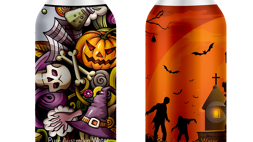 A 3 PACK of Halloween 2021! The spookiest water bottles you ever will see!