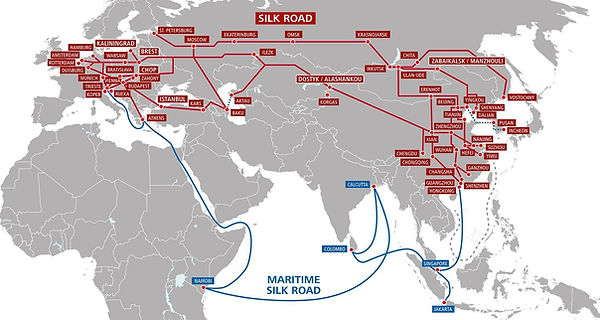 Rail Freight map from China to Europe - CNXtrans