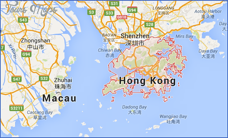 Map of Hong Kong and Shenzhen in Mainland China - CNXtrans