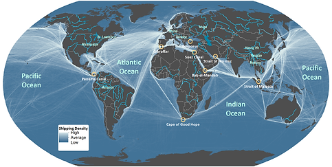 Sea Freight Shipping Route Map from China to Europe - CNXtrans