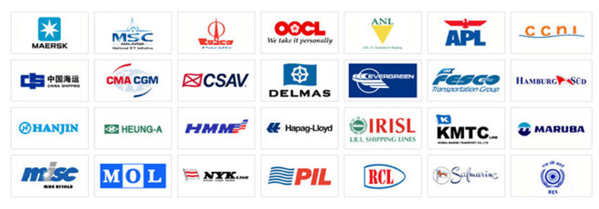 Major Sea Freight Lines we Partner with - CNEbuys