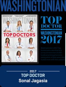 Washingtonian Top Doctor 2017