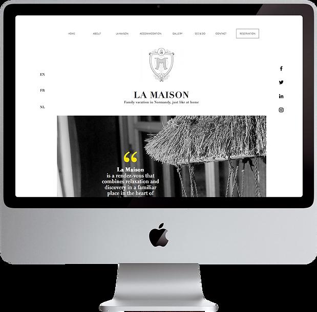 La Maison home page