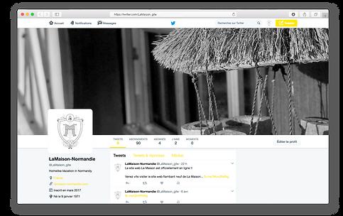 Twitter page of La Maison cottage