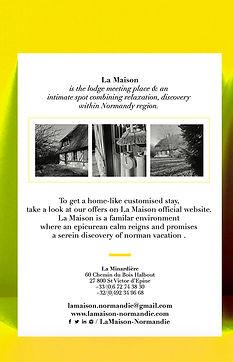 Business card La Maison cottage